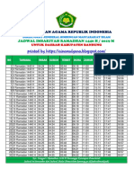 Jadwal Imasakiyah Kabupaten Bandung