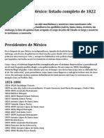 Presidentes de México 02-05-2019