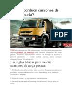 Cómo Conducir Camiones de Carga Pesada