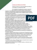 Recomendaciones Elaboración Perfil Diapositivas JCE