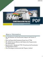 Construccin Poa Presupuesto 2018 Pg