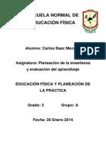 Educación física y planeación de la práctica. Trabajo de Arias.docx