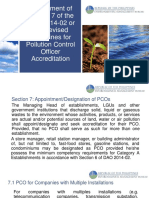 Amendment of Section 7 DAO 2014-02 Revised Guidelines for PCO