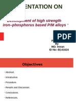 powder metallurgy of fe-p alloys
