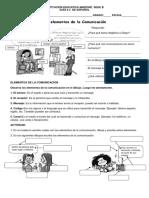 Guia # 8 Elementos de La Comunicacion
