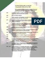 Las grandes fechas de San Juan Bautista de La Salle.doc