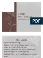 Coffee Masterclass Week 5 PDF