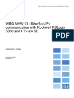 WEG MVW-01 (EtherNetIP) Communication With Rockwell RSLogix 5000