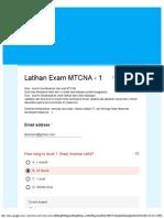 Latihan Exam MTCNA - 1