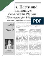 Afinación.hoots, Hertz and Harmonics,Fundamental Physical Phenomena for Flautists.por Jakeways,R.