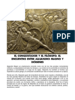 Dialogos Entre Alejandro Magno y Diogenes