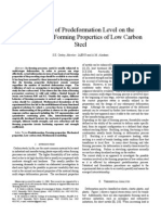 The Effect of Predeformation Level on the Variability of Forming Properties of Low Carbon Steel