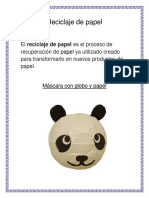 Reciclaje Del Papel y Del Cartón