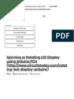 Spinning_Rotating LED Display Using Arduino POV