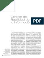 Criterios De Fiabilidad De La InformaciÓN
