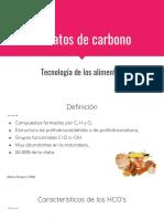Hidratos de Carbono y Aditivos