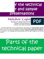 2 Parts of the Technical Paper and a Sample Scientific Talk