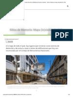 Patrimonio de Chile, Revista Dirección de Bibliotecas Archivos y Museos - Sitios de Memoria_ Mapa (in)Visible de Chile