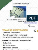 Sesión 2 - MECFLU - Propiedades y Estática de Fluidos - Aplicaciones de Las Propiedades -TRABAJO