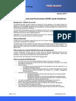 Bulletin 73 HSSE Audit Guidelines Jan 2015