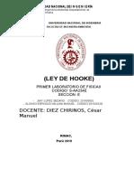 UNIVERSIDAD NACIONAL DE INGENIERIA-FIA-INFORME DE FISICA 2 LEY DE HOOKE
