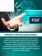 Implementation of Nursing Process