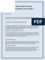 Fred layman | Making the Most Out of Every Encounter to Better Your Club's Visibility _ Fred Layman