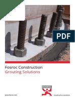 Fosroc Grouting Brochure