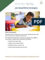 Read Write Strategies