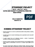 Summer Internship Project BBA 2019 amity university