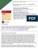 Student Communicative Outcome