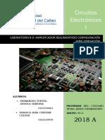 Laboratorio 8-9 Amplificador Realimentado Configuración Serie-Derivación