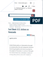 US Department of State Deleted Venezuela Hit List