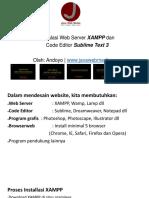 Sesi 0 Instalasi Web Server Dan Code Editor