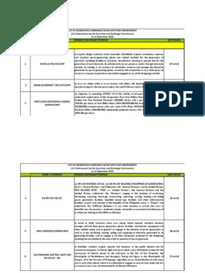sec_endorsements_september2016 pdf   Electricity Generation
