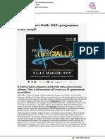 Pescara a Luci Gialle, il programma - Abruzzonews.it, 2 maggio 2019