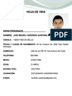 Hoja de Vida Jose Cardenas