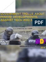 Government Trolls about Pankisi Developments, Against NGOs and Media