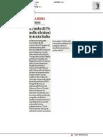 Il ruolo di Facebook nelle elezioni in tutta Italia - Il Corriere Adriatico del 3 maggio 2019