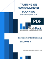Lecture 1. Key Concepts of Environmental Planning