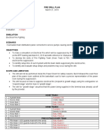 Fire Drill Plan (Electrical)