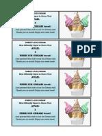 Ice Cream Promo Layout