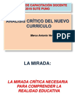 Análisis Crítico Del Nuevo Currículo