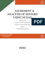 Measurement & Analysis of Sensors Using Ni Daq