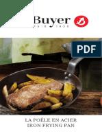 De Buyer Iron Frying Pan manual