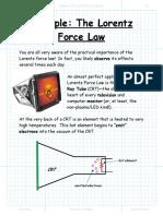 Example the Lorentz Force Law