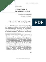 La Estrategia Jurídica. Una Deuda Del Derecho Actual