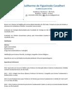 Curriculum Vitae Guilherme F. Cavalheri