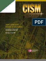 CISM Certification Brochure