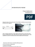 Shear Behaviour of Beam